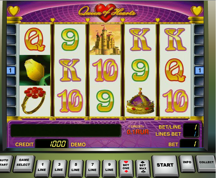 slots queen of hearts